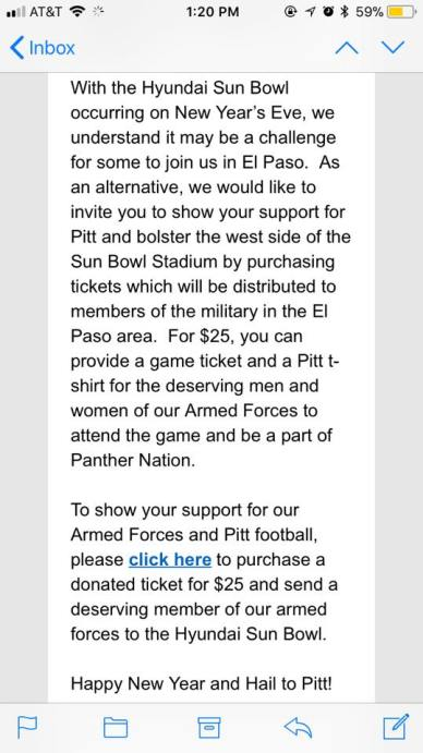 Sun Bowl Email