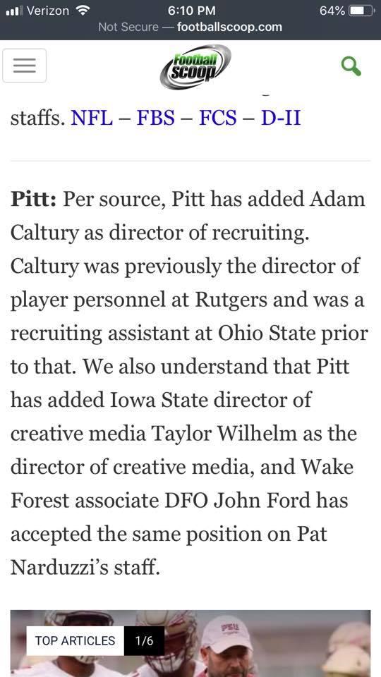 Pitt Staffers